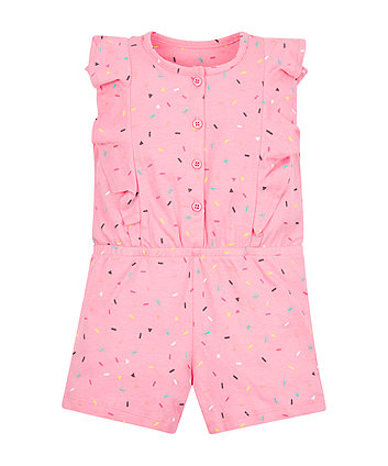 Pink Confetti Playsuit