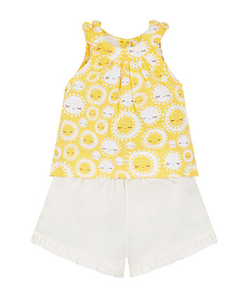 Mothercare Sunny Vest And Shorts Set