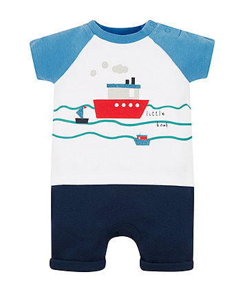 Mothercare Little Boat Romper
