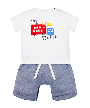 my little bestie mock t-shirt romper