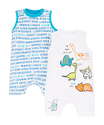 dinosaur rompers - 2 pack