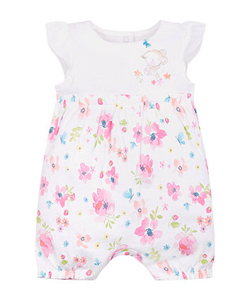 Mothercare Floral Mouse Romper