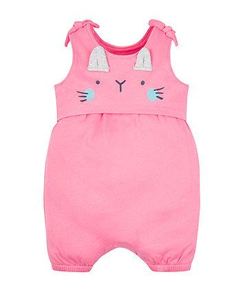Mothercare Pink Cat Romper