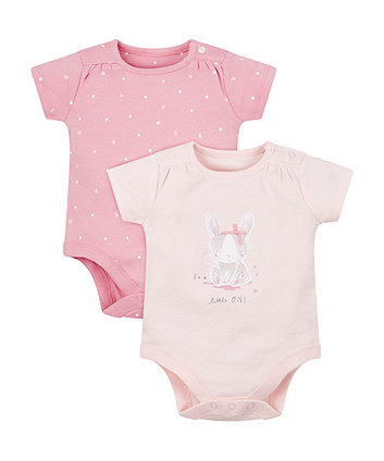 Mothercare My First Bunny Bodysuits - 2 Pack