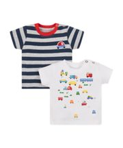 Striped Bus T-Shirts - 2 Pack