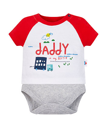 Mothercare Bestie Daddy Mock T-Shirt Bodysuit
