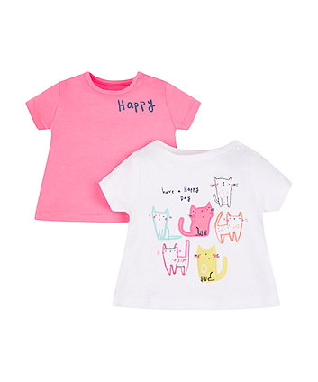 Happy Cat T-Shirts - 2 Pack