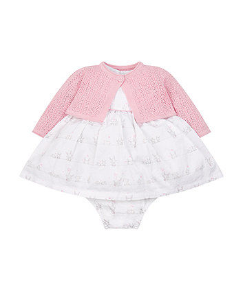 Mothercare My First Dress, Knickers And Cardigan Set