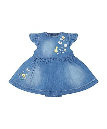 Mothercare My First Denim Romper Dress