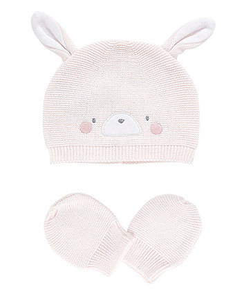 My First Knitted Bunny Hat And Mitts