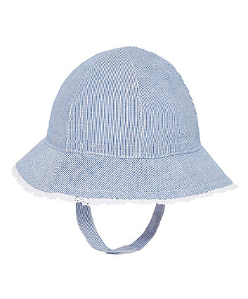 Blue Striped Sun Hat
