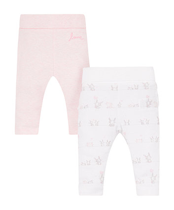 Pink And Frill Leggings - 2 Pack