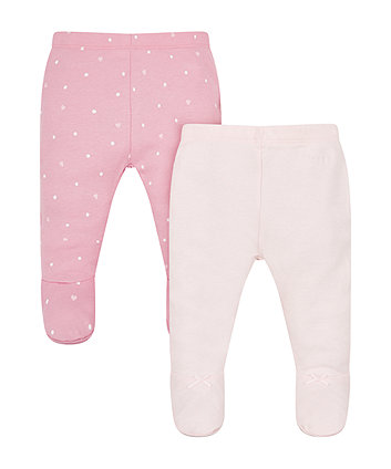 My First Pink And Spotty Leggings - 2 Pack