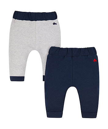grey and navy joggers - 2 pack