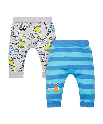 Mothercare Monster And Dino Joggers - 2 Pack