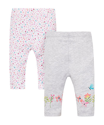 Mothercare Ditsy Floral Leggings - 2 Pack
