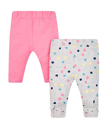 Pink And Spot Leggings - 2 Pack