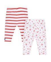 Striped And Floral Leggings - 2 Pack