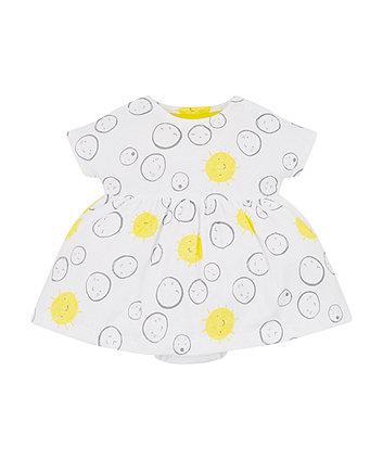 Sunshine Faces Romper Dress