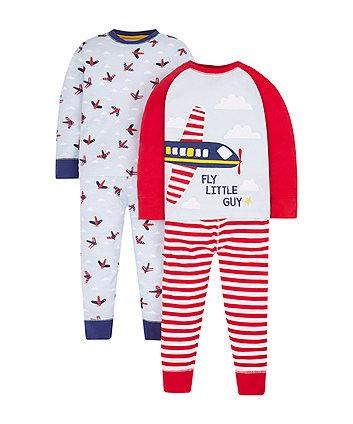 Mothercare Planes Pyjamas - 2 Pack