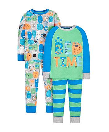 Mothercare Monster Pyjamas - 2 Pack