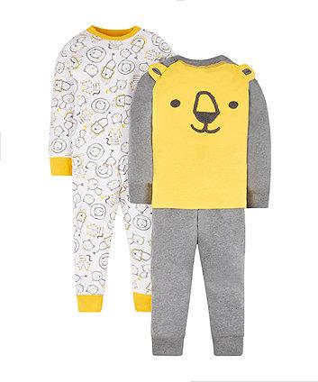 Mothercare Novelty Lion Pyjamas - 2 Pack