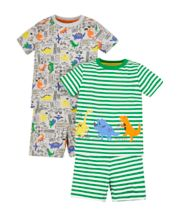Dino City Shortie Pyjamas - 2 Pack