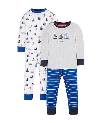 Mothercare Boats Pyjamas - 2 Pack