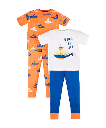 Submarine Pyjamas - 2 Pack