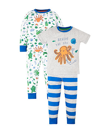 Mothercare Octopus Pyjamas - 2 Pack