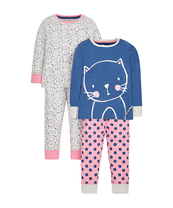 cat pyjamas - 2 pack