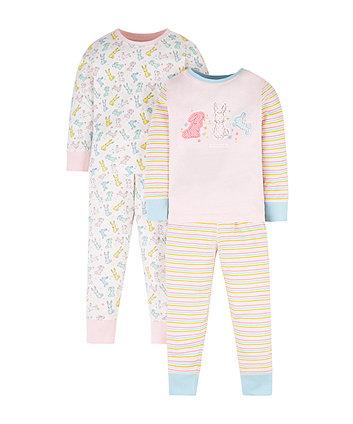 Pastel Bunny Pyjamas - 2 Pack