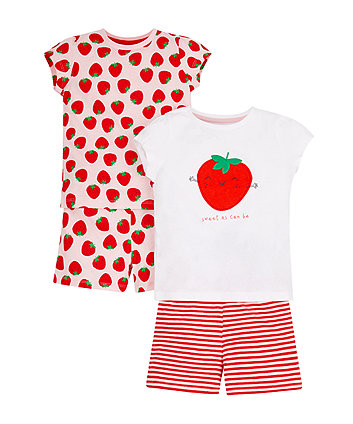 Strawbery Shortie Pyjamas - 2 Pack