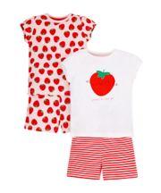 Strawbery Shortie Pyjamas - 2 Pack