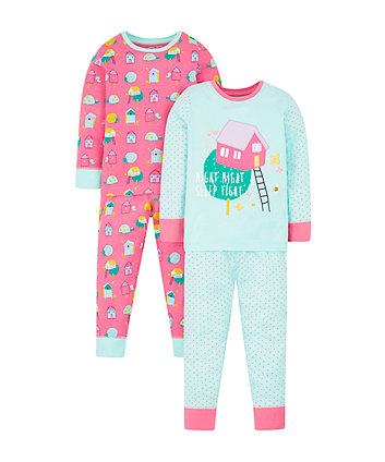 houses pyjamas - 2 pack