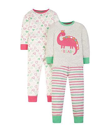 dino pyjamas - 2 pack