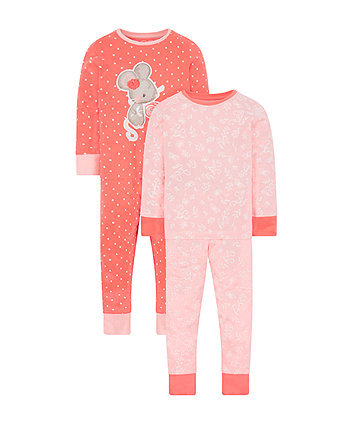 Mothercare Little Mouse Pyjamas - 2 Pack