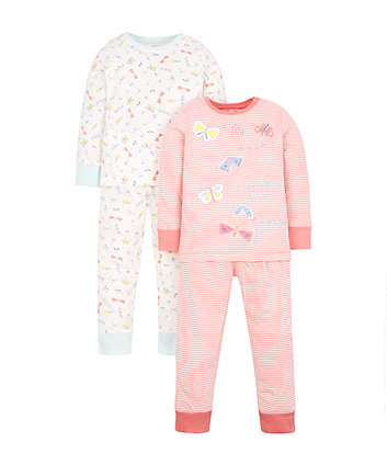Mothercare Butterfly Pyjamas - 2 Pack