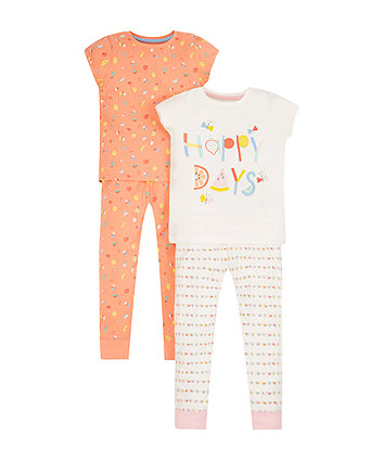 Happy Days Pyjamas - 2 Pack