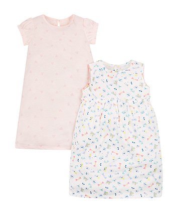Mothercare Butterfly Nighties - 2 Pack