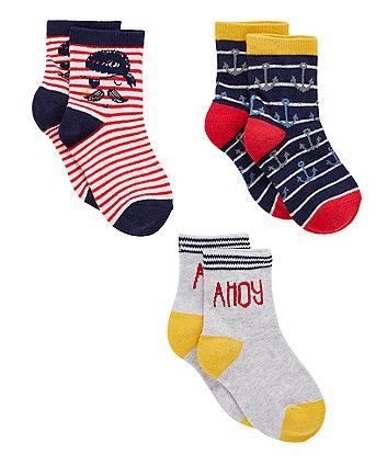 Pirate Socks - 3 Pack