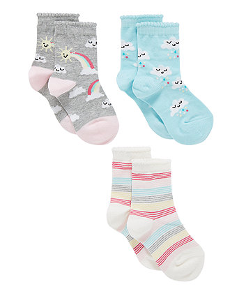 cloud socks - 3 pack