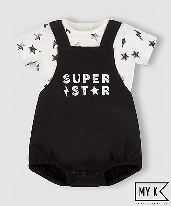 My K Super Star Bibshorts And Bodysuit Set