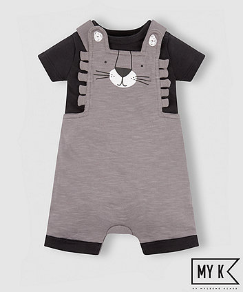 Mothercare My K Lion Bibshorts And Bodysuit Set