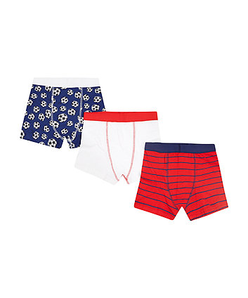Football Trunks - 3 Pack