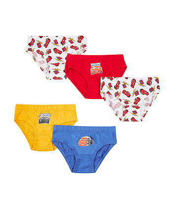 Mothercare Disney Cars Briefs - 5 Pack