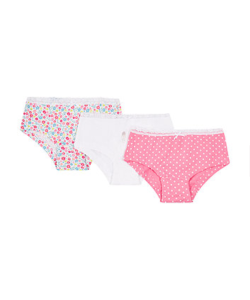 Pretty Girl Hipster Briefs - 3 Pack