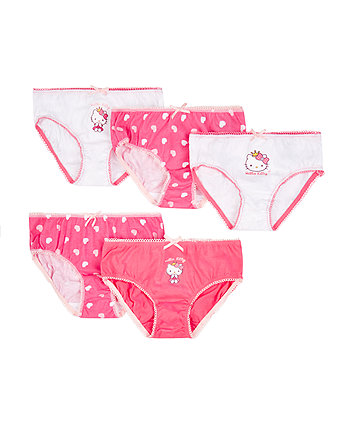 Mothercare Hello Kitty Briefs - 5 Pack