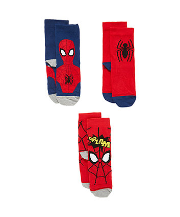 Mothercare Marvel Spiderman Socks - 3 Pack
