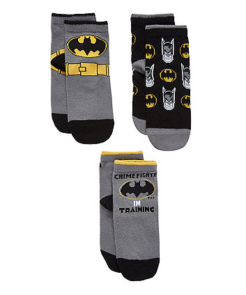 Mothercare Batman Socks - 3 Pack